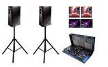 Alquiler equipo de sonido completo 1000w con luces LED y cabina Dj con micrófono