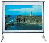 Alquiler de pantalla de proyección frontal o retroproyección 4x3 plegable