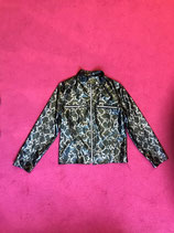 Vintage silver and green snake print jacket