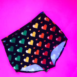 Rainbow 8-bit heart print control briefs