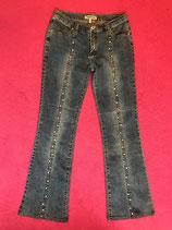 Vintage denim studded bootcuts
