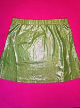 Shiny lime skirt