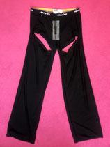 Black mesh boxer trousers