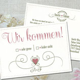 LOVELY WEDDING ANTWORTKARTE