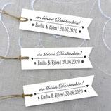 12 x GESCHENKANHÄNGER VINTAGE WEDDING