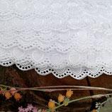 1 Meter MADEIRA | 40 mm 100% bestickte Baumwolle/Naturweiß
