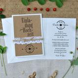 Hochzeitseinladung VINTAGE WEDDING