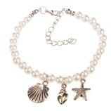Perlen- und Muschel Armband