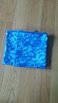 #7013 Utensilientäschchen blau Wachstuch