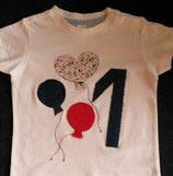 Geburtstags-Shirt ab dem 1. Geburtstag