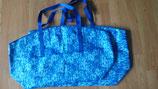 #7011 Wachstuchtasche blau