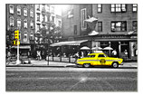 Caliente yellow Cab New York City 75x50cm