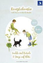 Imelda und Katerle / Junge auf Blüte