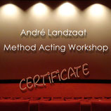 André Landzaat - Method Acting Workshop - Certificate of Attendance