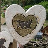 Keramik-Herz mit Neufundländer im Herz