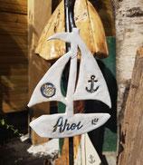 Keramik-Segelboot