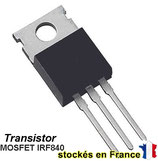 Le transistor MOSFET IRF840 / IRF840PBF boitier TO-220 ( TO220 )   .C14.5