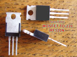 Transistor MOSFET IRF520N / IRF520 / IRF520NPBF boitier TO-220 100V 9.7A  .C24.1