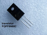 transistor MOSFET FQPF6N60C / FQPF6N60 boitier TO-220F ( TO220-F ) .C52.1