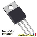 transistor MOSFET IRF540N / IRF540NPBF TO-220 ( TO220 ) 100V 33A  .C44.5