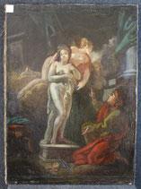 ''IL RATTO DI EURIDICE'' antico dipinto ad olio XVIII SEC.