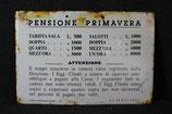 ANTICA TARGA IN FERRO SMALTATO 1940.