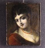 ANTICO DIPINTO,''VOLTO FEMMINILE'',XVII SEC.
