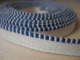 KAPITALBAND blau-weiß 20 cm