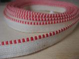 KAPITALBAND rot-weiß 20 cm