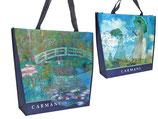 Claude Monet Einkaufstasche Shopping Malerei Woman with a Parasol Seerosenteich