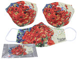 Van Gogh Gesichts Nasen Mund Maske Stoff Polyester Mundbedeckung Red Poppies and Daisies / Rote Mohnblumen 021-9815