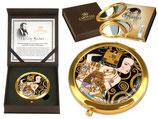 Gustav Klimt Erwartung Taschenspiegel 7,5cm Metall+ Glas + Geschenkkarton  Expectation