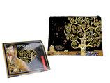Gustav Klimt Kosmetiktasche + Geschenkkarton The tree of Life 22x16 Lebensbaum