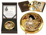 Gustav Klimt Adele Bloch-Bauer Taschenspiegel 7,5cm Metall+ Glas + Geschenkkarton