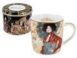 Gustav Klimt Emilie Flöge Tasse + Geschenk Blech Box 0,45L  450ml Becher
