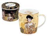 Gustav Klimt Adele Bloch-Bauer Tasse + Geschenk Blech Box 0,45L  450ml Becher