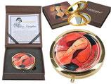 Amedeo Modigliani - Frau mit Hut Taschenspiegel 7,5cm Metall + Glas + Karton