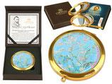 Vincent van Gogh Almond Blossom Taschenspiegel 7,5cm Metall Glas + Karton Mandelblüte