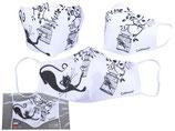Crazy Cats  Motiv Gesichts Nasen Mund Maske Stoffmaske Polyester Mundbedeckung Katzen 021-9862