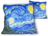 Vincent van Gogh Dekokissen Starry Night Kissen + Füllung 45x45cm Sternennacht