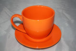 Kaffee Set orange