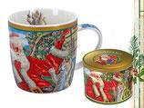 Christmas mug Weihnachten Tasse + Geschenkdose 350ml Becher Weihnachtsmann 9050