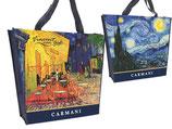 Vincent van Gogh Einkaufstasche Shopping Malerei Sternennacht Cafe Terrasse Nacht 021-9013