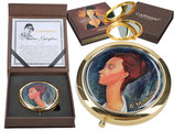 Amedeo Modigliani - Lunia Czechowska Taschenspiegel 7,5cm Metall + Glas + Karton