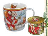 Christmas mug Weihnachten Tasse + Geschenkdose 350ml Becher Weihnachtsmann 9048