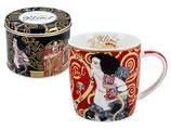 Gustav Klimt Judith II Salome Tasse + Geschenk Blech Box 0,45L  450ml Becher