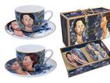4 tlg. Kaffee Set Amedeo Modigliani + Karton 250ml + UT Zborowski + Czechowska