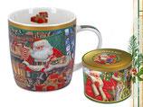 Christmas mug Weihnachten Tasse + Geschenkdose 350ml Becher Weihnachtsmann 9049