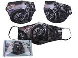 Harley Davidson Motiv Gesichts Nasen Mund Maske Stoffmaske Polyester Mundbedeckung Motorrad 021-9871