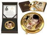 Gustav Klimt Kuß Taschenspiegel 7,5cm Metall+Glas +Geschenkkarton Kiss Kuss